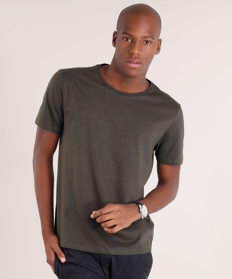 Camiseta-Masculina-Basica-Manga-Curta-Gola-Careca-Verde-Militar-8512907-Verde_Militar_1