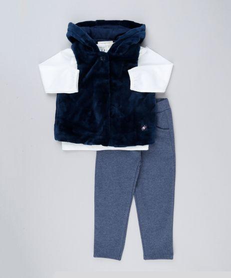 Conjunto-Infantil-de-Colete-de-Pelo-com-Capuz-Azul-Marinho---Blusa-Manga-Longa-Off-White---Calca--Azul-Marinho-8898271-Azul_Marinho_1
