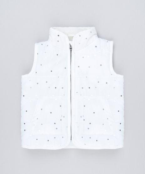 Colete-Infantil-Puffer-com-Pelo-na-Gola-Estampado-de-Poa-Metalizado-Off-White-8889478-Off_White_1
