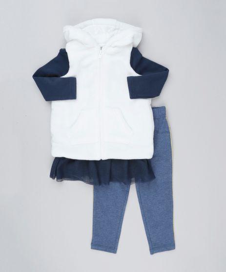 Conjunto-Infantil-de-Colete-de-Pelo-com-Capuz---Blusa-Manga-Longa-com-Tule-azul-Marinho---Calca-Legging-com-Vivo-Azul-Marinho-8898289-Azul_Marinho_1