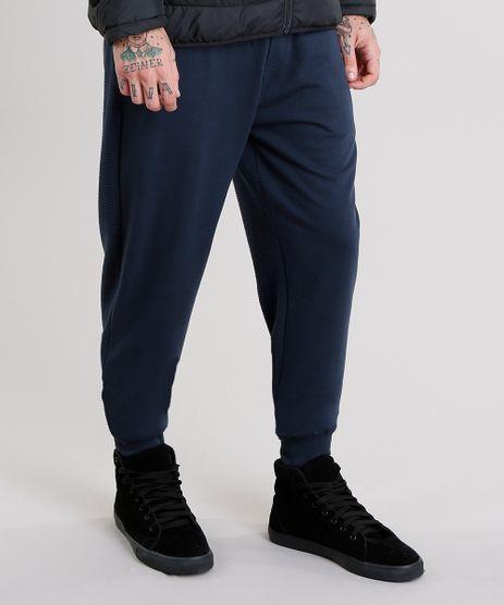 Calca-Masculina-Jogger-em-Moletom-com-Textura-e-Ziper-Azul-Marinho-8834948-Azul_Marinho_1