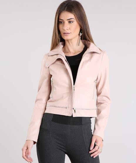 Jaqueta-Feminina-Gola-Alta-com-Botao-Ziper-na-Barra-Rose-8895861-Rose_1