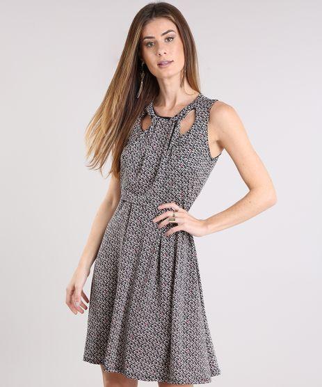 Vestido-Feminino-Estampado-Geometrico-com-Decote-Vazado-Curto-Preto-9175346-Preto_1