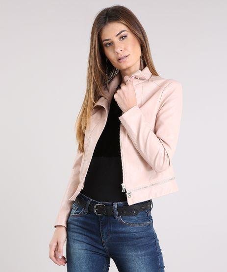 Jaqueta-Feminina-Gola-Alta-com-Botao-Ziper-na-Barra-Rose-8895860-Rose_1