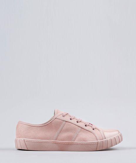 Tenis-Feminino-com-Verniz-Moleca-em-Suede-Rose-9166214-Rose_1