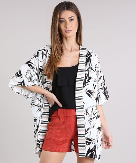 Kimono-Feminino-Estampado-de-Folhagem-manga-Curta-Off-White-8933728-Off_White_1
