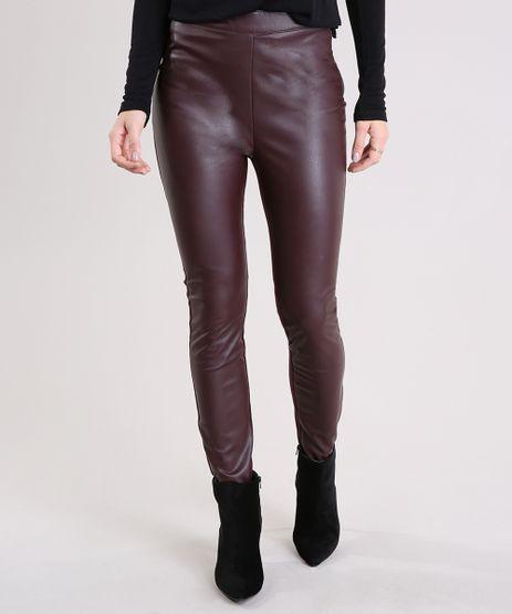 Calca-Feminina-Legging-com-Ziper-Vinho-8893825-Vinho_1