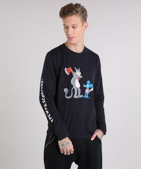 Camiseta-Masculina-Comichao-e-Cocadinha-Os-Simpsons-Manga-Longa-Gola-Careca-Preta-9151465-Preto_1