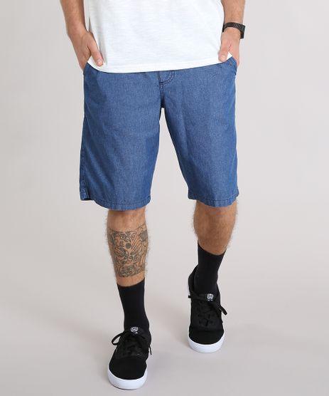 Bermuda-Jeans-Masculina-com-Cordao-e-Bolsos-Azul-Escuro-9117592-Azul_Escuro_1