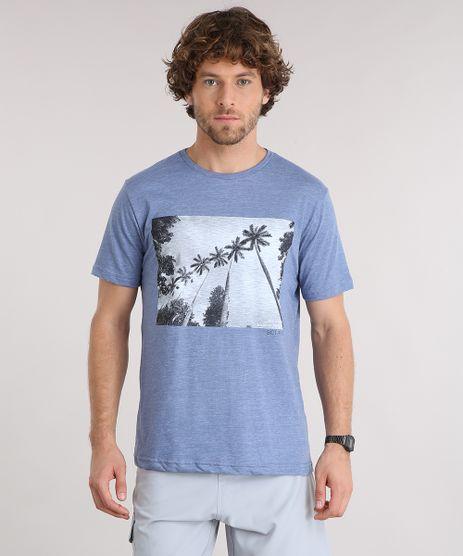 Camiseta-Masculina-Manga-Curta-Gola-Careca-com-Estampa-de-Coqueiros-Azul-9125861-Azul_1