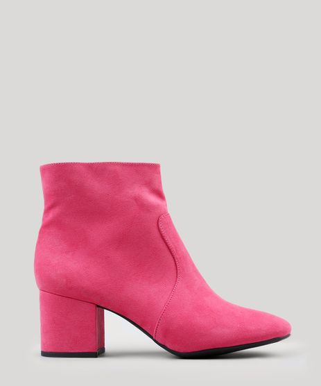 Bota-Feminina-Salto-Baixo-em-Suede-com-Bico-Redondo-Pink-9076679-Pink_1