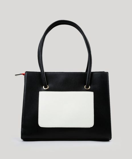 Bolsa-Feminina-Shoulder-com-Bolso-Bicolor-Preta-8890640-Preto_1