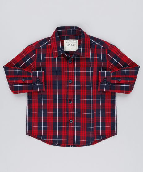 Camisa-Infantil-Xadrez-Manga-Longa-com-Bolso-Vermelha-8441711-Vermelho_1