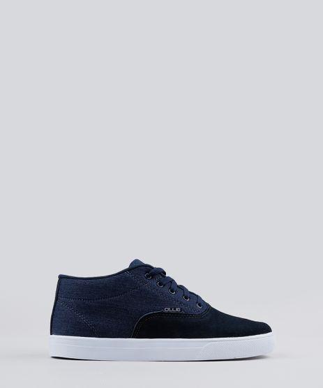 Tenis-Masculino-Ollie-Cano-Alto-em-Suede-com-Jeans-Azul-Marinho-9182190-Azul_Marinho_1