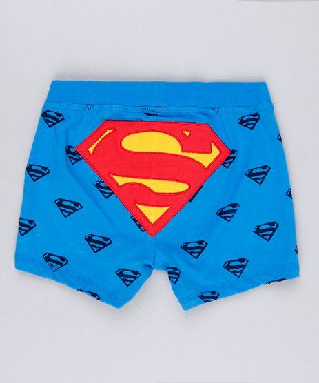 Short-Infantil-Super-Homem-Estampado-em-Algodao---Sustentavel-Azul-8928660-Azul_1