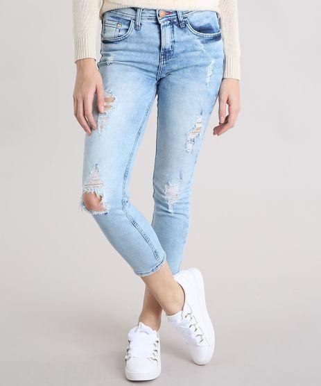 Calca-Jeans-Feminina-Skinny-Cropped-Destroyed-Azul-Clara-9195859-Azul_Clara_1