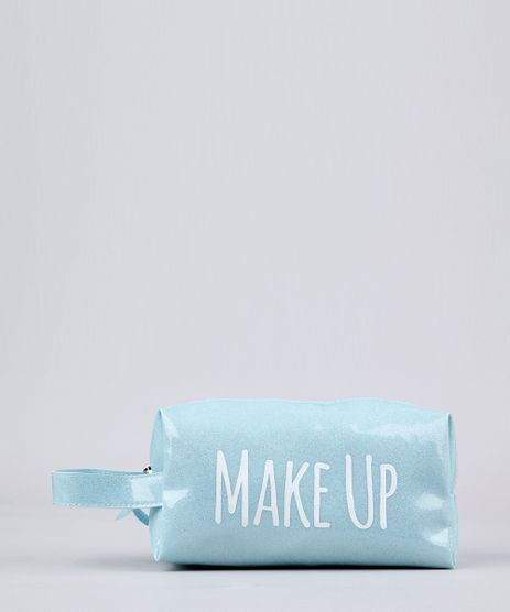 Necessaire-Feminina-de-Plastico-com-Glitter--Make-Up--Azul-Clara-8756182-Azul_Clara_1