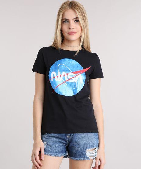 Blusa-Feminina-Lunar-com-Estampa-Metalizada-Decote-Redondo-Manga-Curta-em-Algodao---Sustentavel-Preta-9132130-Preto_1