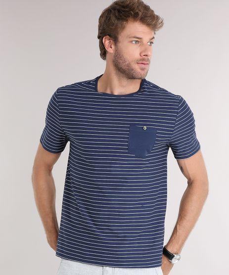 Camiseta-Masculina-Listrada-com-Bolso-Manga-Curta-Gola-Careca-Azul-Marinho-9028753-Azul_Marinho_1