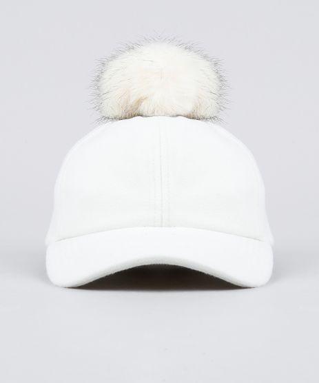 Bone-Feminino-com-Pompom-Aba-Curva-em-Feltro-Off-White-9196763-Off_White_1