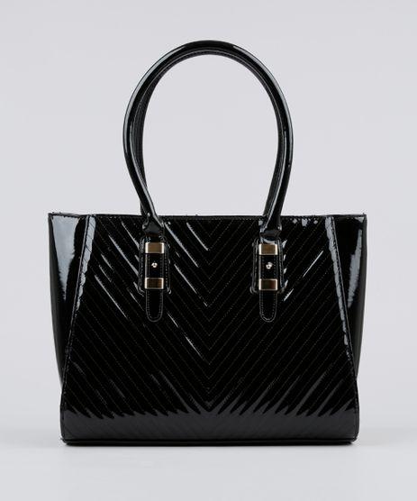 Bolsa-Feminina-Shoulder-em-Verniz-com-Textura-Preta-8872713-Preto_1