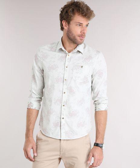 Camisa-Masculina-Comfort-Estampada-Floral-Manga-Longa-com-Bolso-Bege-Claro-8859416-Bege_Claro_1