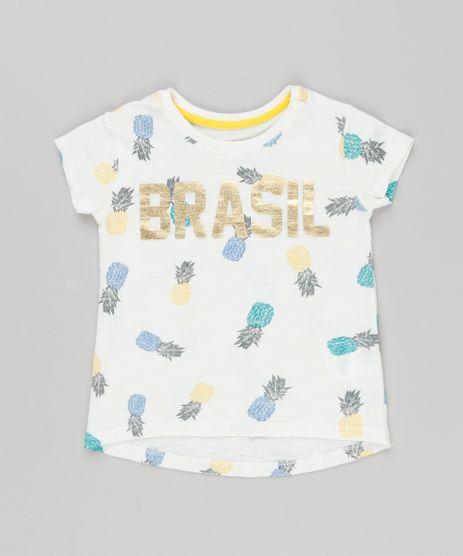 Blusa-Infantil-Brasil-Estampada-Manga-Curta-Decote-Redondo-Off-White-9181457-Off_White_1