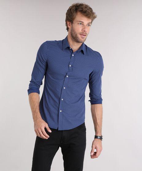 Camisa-Masculina-Slim-Estampada-Manga-Longa-Azul-Marinho-8852738-Azul_Marinho_1