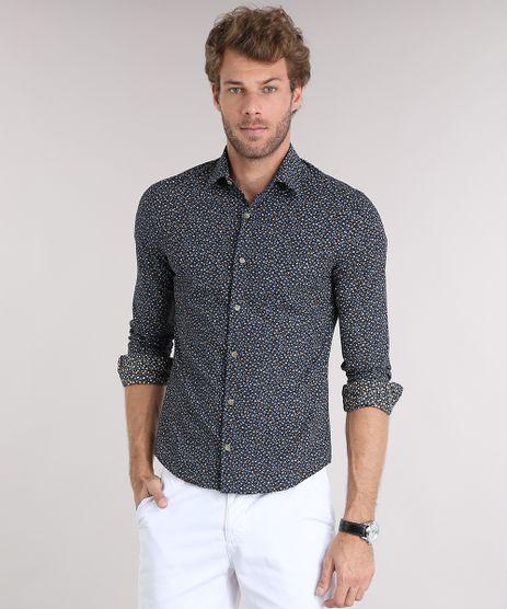 Camisa-Masculina-Slim-Estampada-Floral-Manga-Longa-Preta-9084481-Preto_1