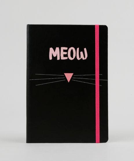 Caderno--Meow--Sem-Pauta-205-x-14-cm-Preto-9131737-Preto_1