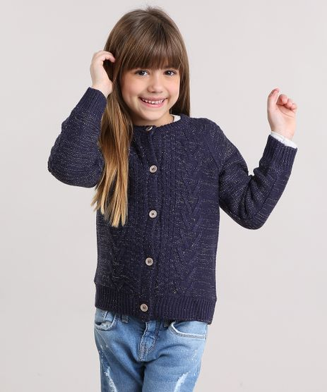 Cardigan-Infantil-em-Trico-com-Lurex-e-Forro-em-Plush-Azul-Marinho-8862498-Azul_Marinho_1