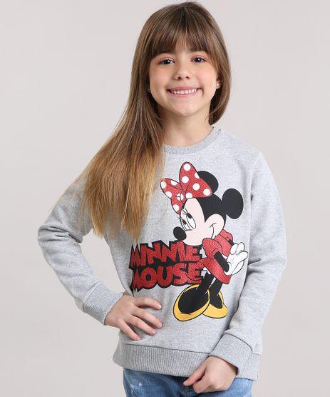 Blusao-Infantil-Minnie-com-Glitter-em-Moletom-Manga-Longa-Decote-Redondo-Cinza-Mescla-9156224-Cinza_Mescla_1