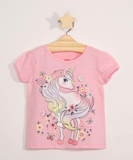 Blusa-Infantil-Manga-Curta-Unicornio-Rosa-9979640-Rosa_1