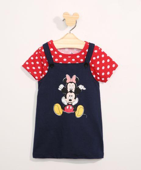 Conjunto-Infantil-Camiseta-Manga-Curta-Estampada-de-Poa---Salopete-Minnie-e-Mickey-Azul-Marinho-9967580-Azul_Marinho_1