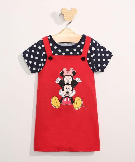 Conjunto-Infantil-Camiseta-Manga-Curta-Estampada-de-Poa---Salopete-Minnie-e-Mickey-Vermelho-9967580-Vermelho_1