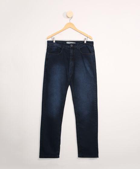 Calca-Jeans-Masculina-Reta-com-Bolsos-Azul-Escuro-9980560-Azul_Escuro_1