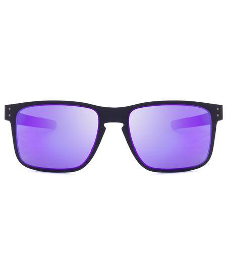 Óculos de Sol Oakley Holbrook Metal OO4123 - Matte Black - Violet Iridium -  14 55 - ceacollections aaacdf9813