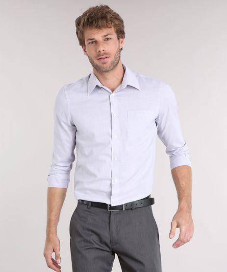 Camisa-Masculina-Comfort-Estampada-Manga-Longa-com-Bolso-Cinza-8856404-Cinza_1
