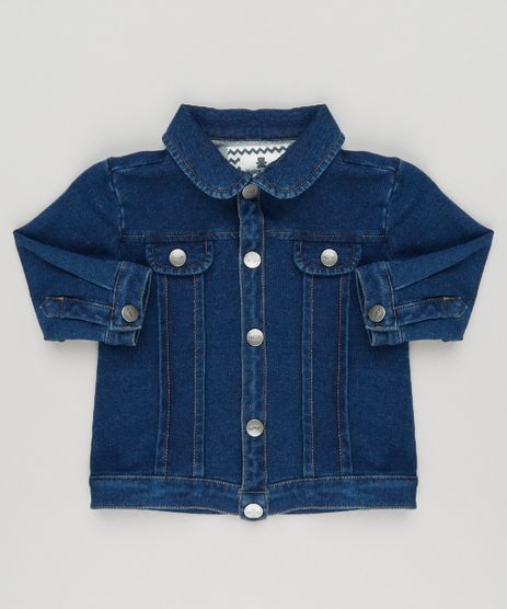 Jaqueta-Jeans-Infantil-em-Moletom-de-Algodao---Sustentavel-Azul-Escuro-8959120-Azul_Escuro_1