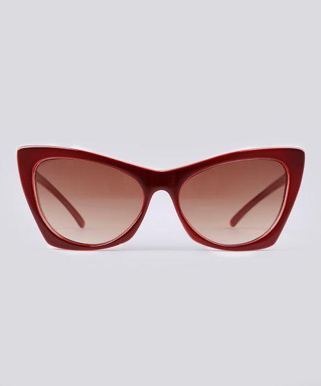 Oculos-de-Sol-Gatinho-Feminino-Oneself-Vinho-9102654-Vinho_1