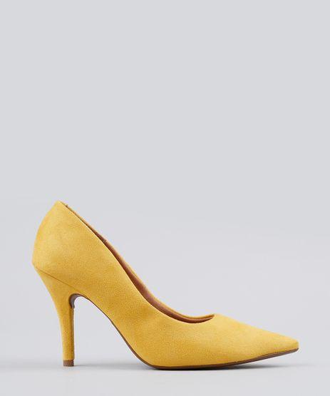 Scarpin-Feminino-Bico-Fino-Vizzano-em-Suede-Salto-Fino-Amarelo-9191467-Amarelo_1