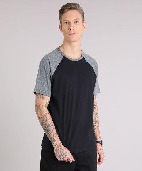 Camiseta-Masculina-Raglan-Basica-Manga-Curta-Decote-Careca-Preta-8808223-Preto_1