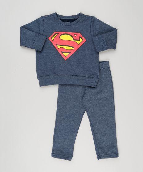 Conjunto-Infantil-Super-Homem-de-Blusao---Calca-em-Moletom-Azul-Escuro-9182761-Azul_Escuro_1