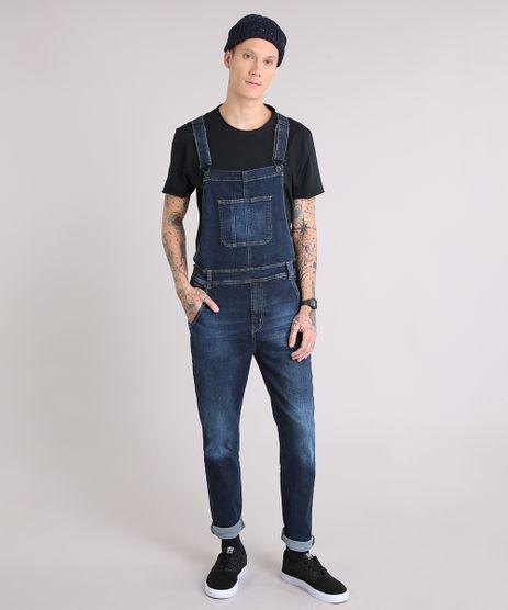 Macacao-Jeans-Masculino-com-Botoes-Laterais-Azul-Escuro-9190638-Azul_Escuro_1