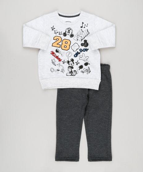 Conjunto-Infantil-Mickey-de-Blusao-Cinza-Mescla-Claro---Calca-em-Moletom-Cinza-Escuro-9129645-Cinza_Escuro_1