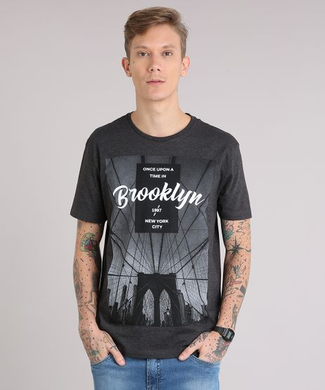Camiseta-Masculina--Brooklyn--Manga-Curta-Gola-Careca-Cinza-Mescla-Escuro-9081148-Cinza_Mescla_Escuro_1