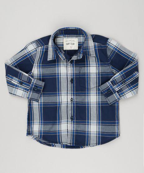 Camisa-Infantil-Xadrez-Manga-Longa-com-Bolso-Azul-Marinho-8441776-Azul_Marinho_1