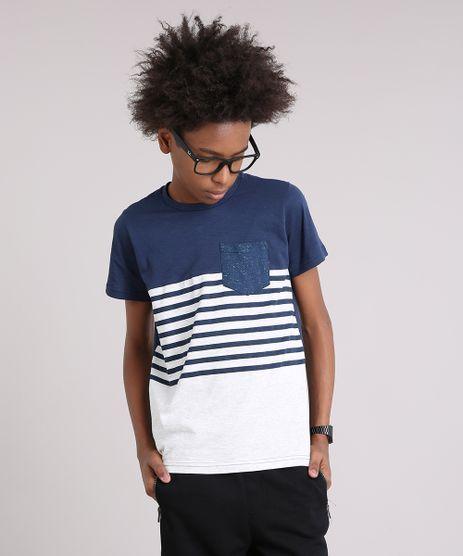 Camiseta-Infantil-com-Listras-e-Bolso-Mangas-Curtas-Gola-Careca-Azul-Marinho-9129205-Azul_Marinho_1
