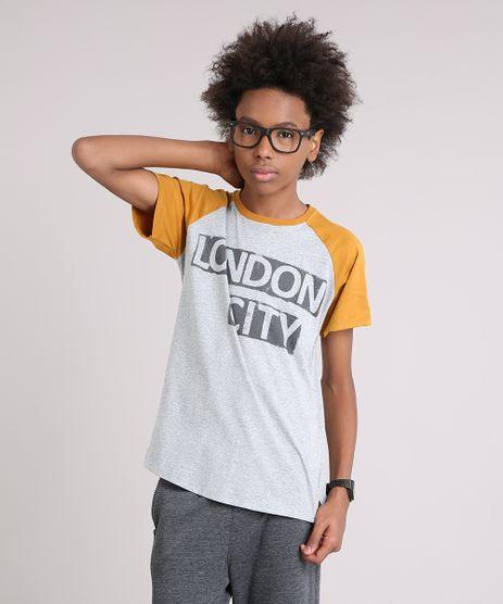 Camiseta-Infantil-Raglan--London-City--Manga-Curta-Gola-Careca-Cinza-Mescla-9142290-Cinza_Mescla_1