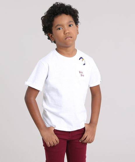 Camiseta-Infantil-Papa-Leguas-com-Bolso-Manga-Curta-Decote-Careca-Off-White-9147840-Off_White_1